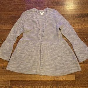 Style & Co Bell Sleeve Heathered Cardigan PERFECT!